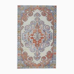 Tappeto 4x7 vintage in lana, fatto a mano, Medio Oriente