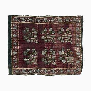 Handgeknüpfter türkischer Vintage Cacim Fußmatte oder Teppich