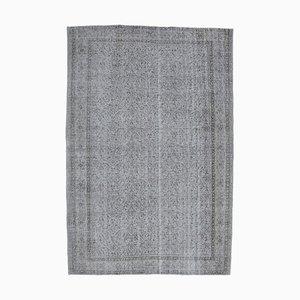 7x10 Vintage Turkish Oushak Handmade Gray Wool Boho Rug