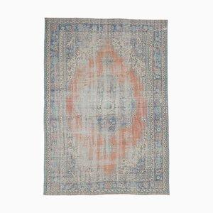 Tappeto 8x11 Medio Oriente Oushak vintage fatto a mano a mano rossa in lana rossa