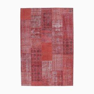 7x10 Vintage Turkish Oushak Handmade Wool Patchwork Rug