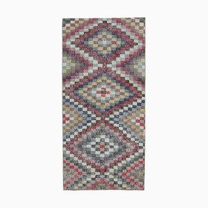 Türkischer Vintage Oushak Handgemacht Bunter Wollteppich, 3x6