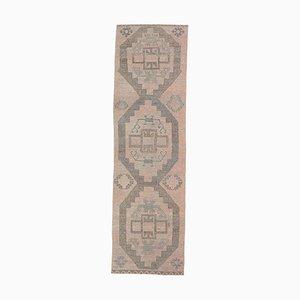 3x10 Vintage Turkish Oushak Handmade Brown Wool Runner Rug