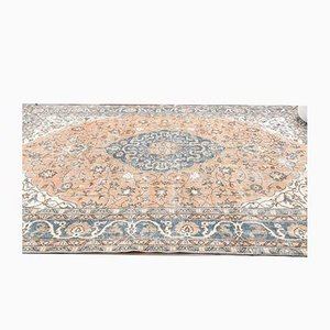 Türkischer Vintage Oushak Orient Teppich 8x12 in Orange