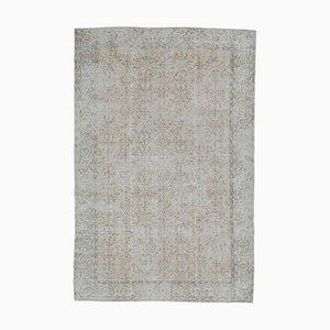 Handgeknüpfter orientalischer Handgewebter 7x10 Antiker Türkischer Oushak Teppich aus Wolle