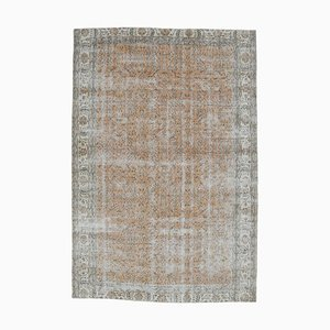 7x10 Vintage Turkish Oushak Handmade Wool Floral Carpet