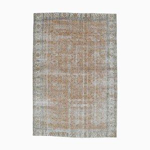 Handgeknüpfter türkischer Vintage Oushak Teppich aus Wolle mit 7 x 10 Feldern