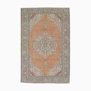 7x11 Vintage Middle East Oushak Handmade Orange Oriental Rug