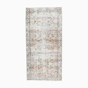 3x6 Vintage Turkish Oushak Handmade Wool Oriental Rug