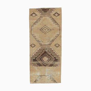 Türkischer Vintage Oushak Vintage 2S5 Flur Läufer Teppich