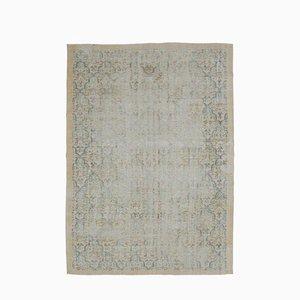 7x10 Türkischer Vintage Oushak Distressed Oriental Teppich