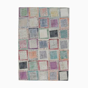 Tappeto Oushak fatto a mano con patchwork fatto a mano, Turchia