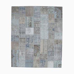 8x10 türkischer Vintage Oushak Teppich aus handgewebter Wolle