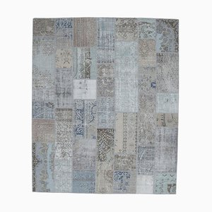 Tappeto Oushak vintage in lana con patchwork fatto a mano, 8x10