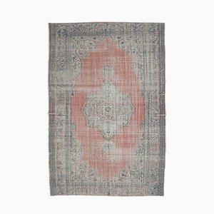 Roter Mid-Century Naher Osten Oushak Teppich aus Wolle