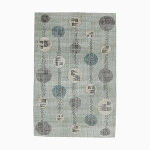 6x10 Vintage Rug Oushak Handmade Wool Carpet