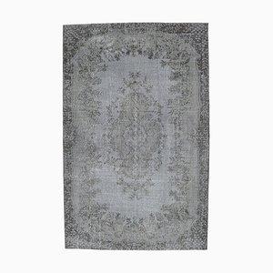 6x10 Vintage Turkish Oushak Handmade Gray Oriental Carpet