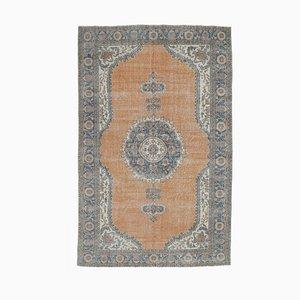 7x11 orientalischer handgearbeiteter orientalischer Oushak Teppich in Orange