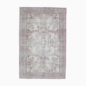 7x11 Vintage Turkish Oushak Handmade Wool Rug