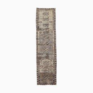 2x9 Vintage Turkish Oushak Handmade Wool Neutral Rug