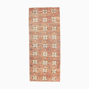 4x9 Vintage Turkish Oushak Handmade Wool Runner Ikat Carpet