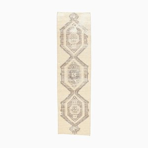 3x11 Vintage Turkish Oushak Handmade Wool Hallway Rug