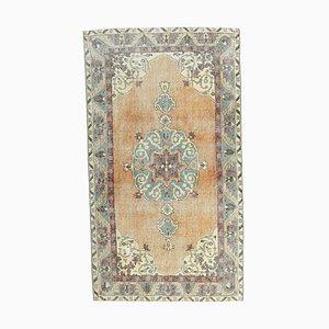 Türkischer Vintage Oushak 4x7 Vintage Teppich aus Wolle
