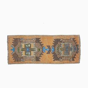 2x4 Vintage Turkish Oushak Doormat or Small Carpet