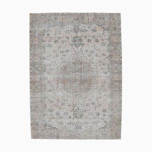 6x10 türkischer Vintage Oushak Handgeknüpfter Orientteppich aus Wolle