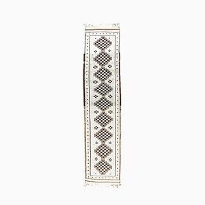 3x12 Türkischer Vintage Oushak Boho Teppich aus Wolle