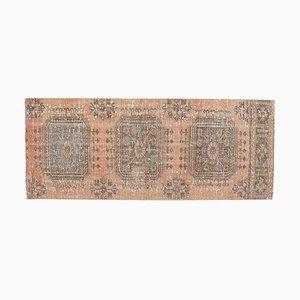 3x7 Türkischer Vintage Oushak Teppich Handgefertigter Teppich aus Wolle