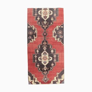 4x8 Vintage Turkish Oushak Small Handmade Wool Runner Rug