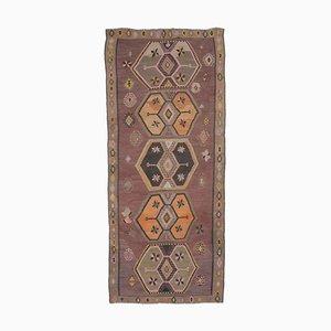 6x13 Vintage Turkish Oushak Handmade Wool Kilim Area Rug