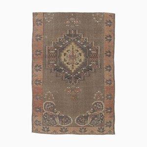 Handgeknüpfter türkischer Vintage Oushak Teppich mit 5x7 Punkten