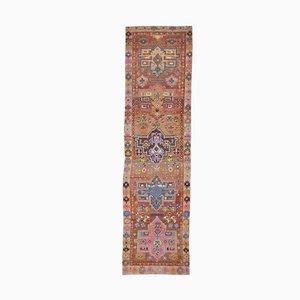 3x11 Handgewebter türkischer Vintage Oushak Teppich aus Wolle