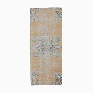 4x9 Vintage Turkish Oushak Handmade Wool Runner Rug