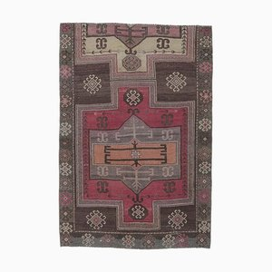 Tappeto Oushak vintage in lana fatta a mano 4x6, Turchia