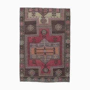 Türkischer Vintage Oushak Teppich mit 4 x 6 Farben