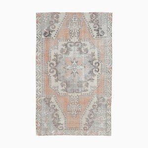 4x7 Vintage Middle East Oushak Handmade Wool Oriental Runner Rug