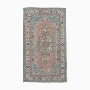 Türkischer Vintage Oushak Teppich aus reiner reiner Wolle von 4x8
