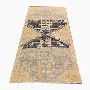 3x7 Handgemachter türkischer Vintage Oushak Teppich aus neutraler Wolle
