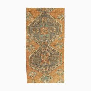 3x6 Vintage Turkish Oushak Handmade Wool Oriental Runner Rug