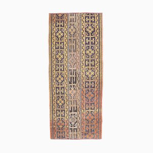 Tappeto da corridore 3US6 vintage fatto a mano di lana Oushak, Turchia