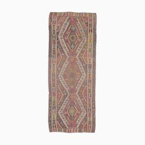 4x10 Vintage Turkish Oushak Handmade Wool Kilim Runner Rug