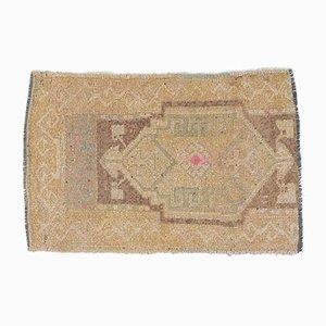 1x2 türkische Vintage Oushak Fußmatte oder kleiner Teppich
