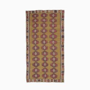 7x15 Vintage Turkish Oushak Handmade Wool Kilim Area Rug