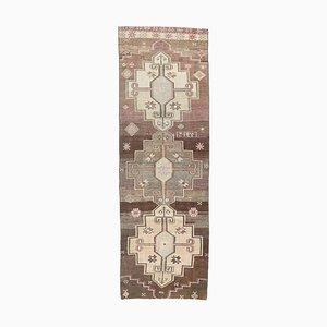 4x11 Vintage Turkish Oushak Handmade Wool Hallway Rug