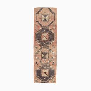 3x10 Vintage Turkish Oushak Handmade Wool Hallway Rug