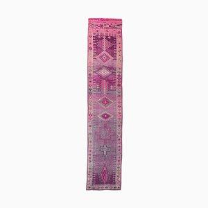 3x14 Türkischer Vintage Oushak Teppich aus Wolle