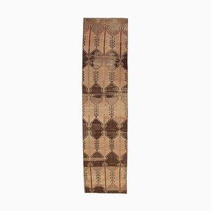 3x11 türkischer Vintage Oushak Teppich aus Wolle Ikat
